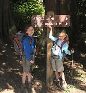 Goose Rock, kids hiking, children in nature