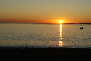 sunset at deception pass state park, children in nature, hiking