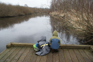 mercer slough, kids in nature, nature walk